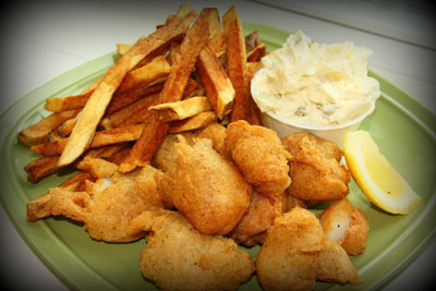 Fried Scallop Dinner
